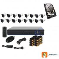 Special Offer! - Full HD AHD CCTV Kit - 16 Channel CCTV DIY camera system - 16 Bullet Cameras plus 500 GB Hard Drive