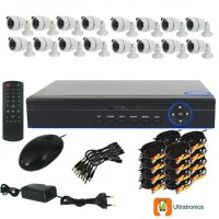 Special Offer! - Full HD AHD CCTV Kit - 16 Channel CCTV DIY camera system - 16 Bullet Cameras