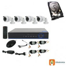 Special Offer! - Full HD AHD CCTV Kit - 4 Channel CCTV DIY camera system - 4 Bullet Cameras plus 500 GB Hard Drive