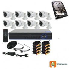 Special Offer! - Full HD AHD CCTV Kit - 8 Channel CCTV DIY camera system - 8 Bullet Cameras plus 500 GB Hard Drive