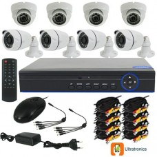 Full HD AHD CCTV Kit - 8 Channel CCTV DIY camera system - 4 Dome and 4 Bullet Cameras