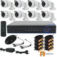 Special Offer! - Full HD AHD CCTV Kit - 8 Channel CCTV DIY camera system - 8 Bullet Cameras