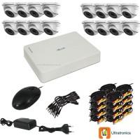 HIKVISION CCTV Kit - 16 Channel CCTV DIY camera system - 16 Dome Cameras