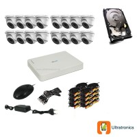 HIKVISION CCTV Kit - 16 Channel CCTV DIY camera system - 16 Dome Cameras plus 500 GB Hard Drive