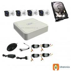 HIKVISION CCTV Kit - 4 Channel CCTV DIY camera system - 4 Bullet Cameras plus 500 GB Hard Drive