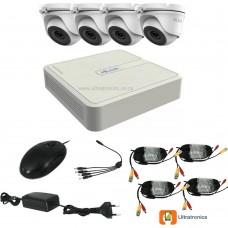 HIKVISION CCTV Kit - 4 Channel CCTV DIY camera system - 4 Dome Cameras