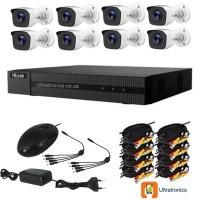 Hilook by HIKVISION CCTV Kit - 8 Channel CCTV DIY camera system - 8 Bullet Cameras