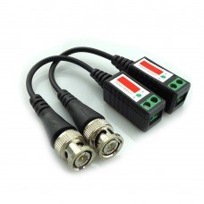 Video Balun Twisted CCTV Balun Passive Transceivers BNC Cable Cat5 CCTV Adapter - Per Pair