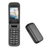L8star Small Mini Flip Cell Phone BM60 (Black)