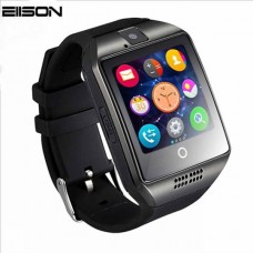 Q18 Smart Bluetooth Wristwatch - Facebook, Twitter, Sync SMS MP3 - Support Sim Card, TF Card - For IOS, Android Phone - Black