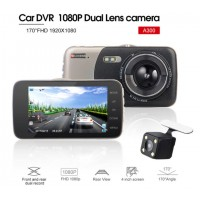 Car DVR - Dual Lens With Rear View Camera Night Vision