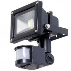 10 Watt Outside LED Floodlight with PIR Sensor